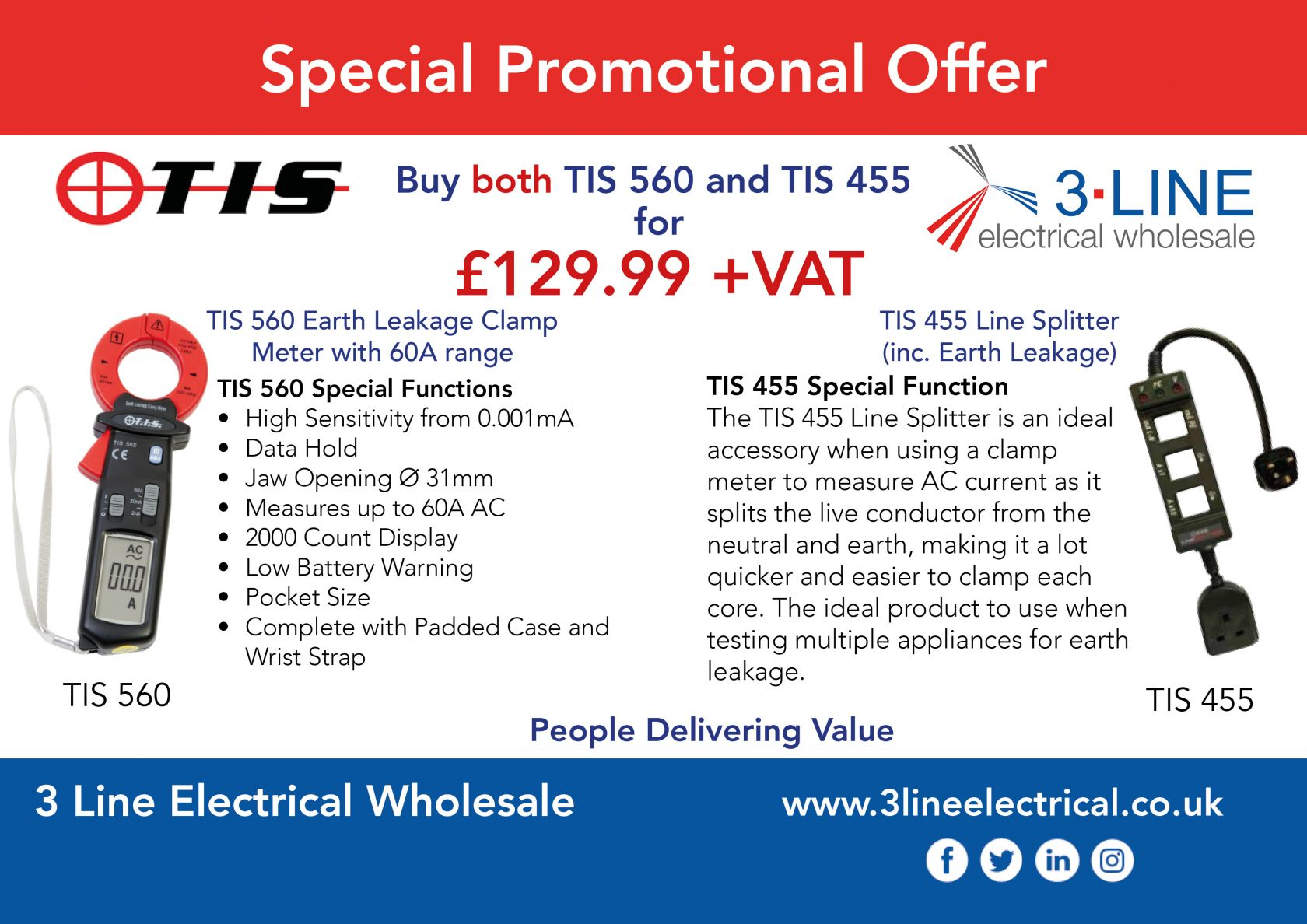 TIS 560 and TIS 455 Promotional Offer