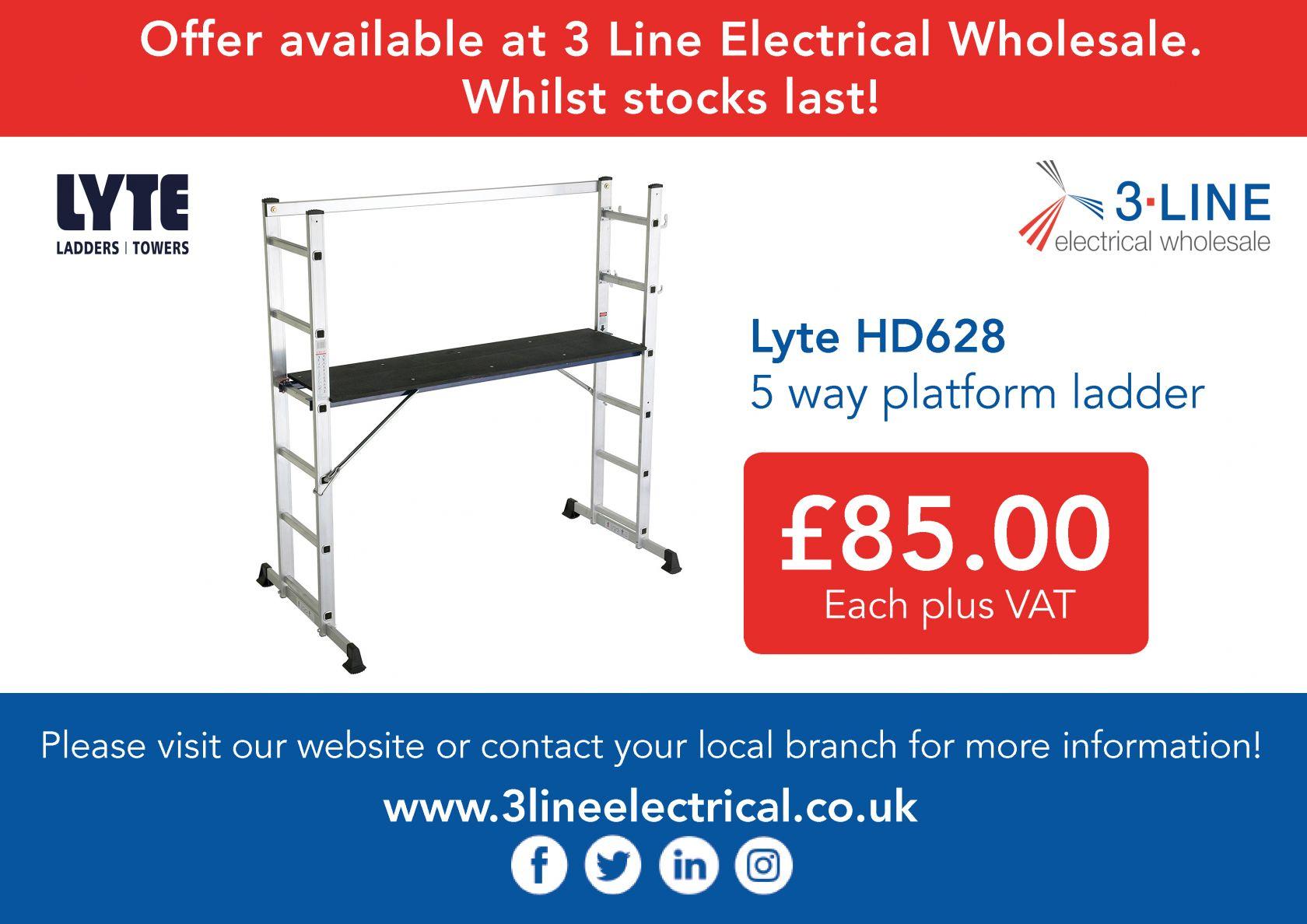 Lyte HD628 5 way platform ladder