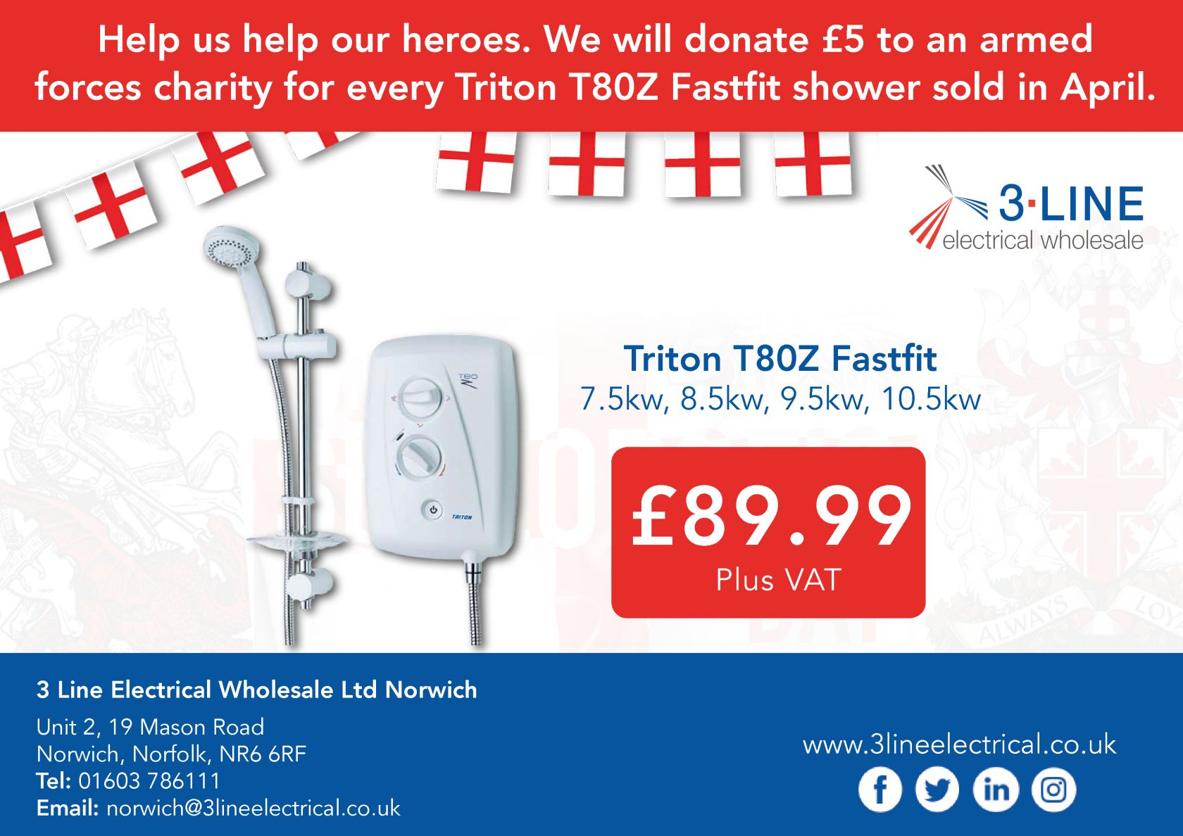 Triton T80Z Fastfit shower (Norwich)