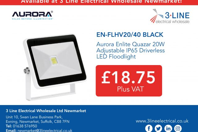 Aurora Enlite Quazar 20W Adjustable IP65 Driverless LED Floodlight!