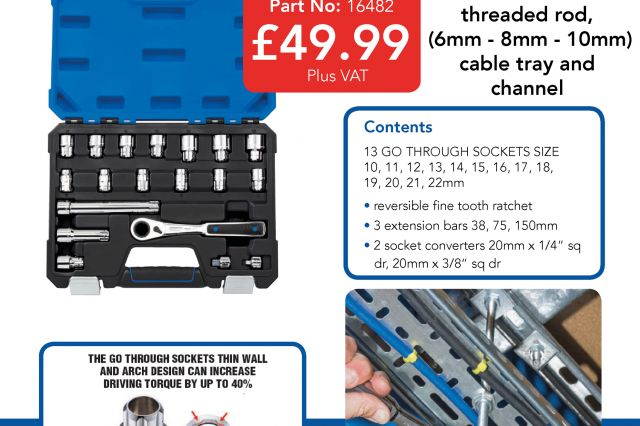 Available from 3Line Electrical Draper Tools 19  Piece Go Through Socket Set!