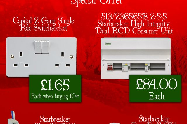 3Line Electrical Crabtree Winter Promotion offer