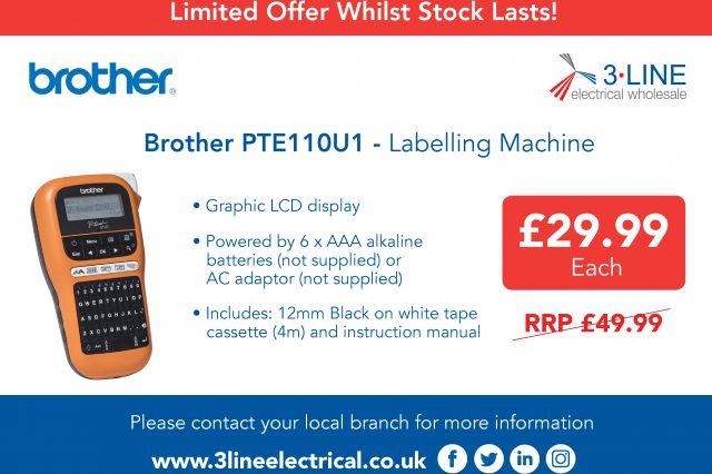 Brother PTE110U1 - Labelling Machine