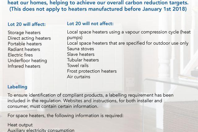New Lot20 Regulations
