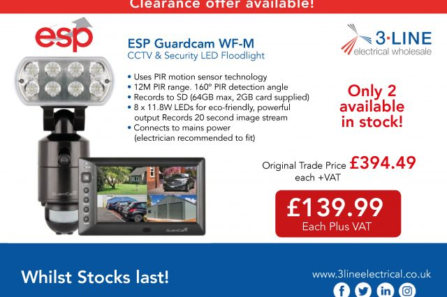 ESP Guardcam WF-M CCTV & Security LED Floodlight