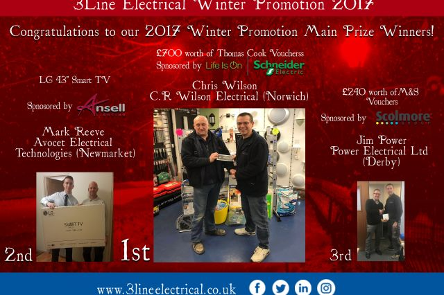 Congratulations to our 2017 Winter Promotion Main Prize Winners!