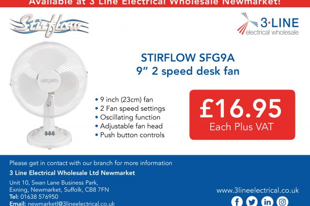 "STIRFLOW SFG9A 9"" 2 Speed Desk Fan (Newmarket)"