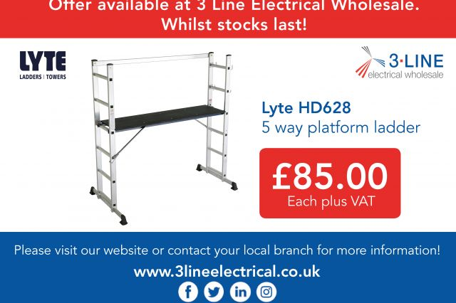 Lyte HD628 5 way platform ladder