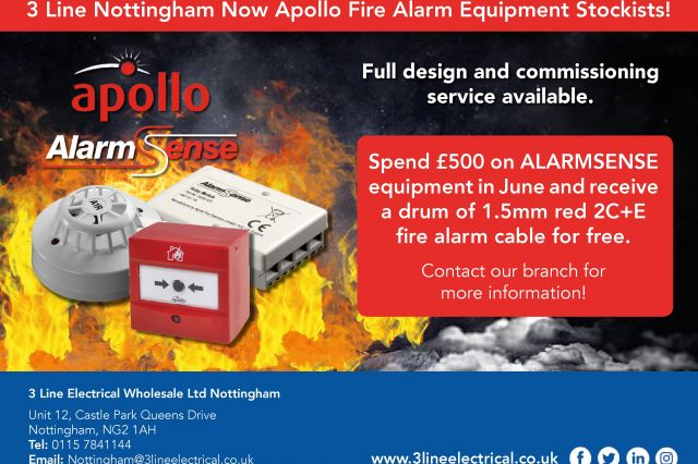 3 Line Nottingham Now Apollo Fire Alarm Equipment Stockists!