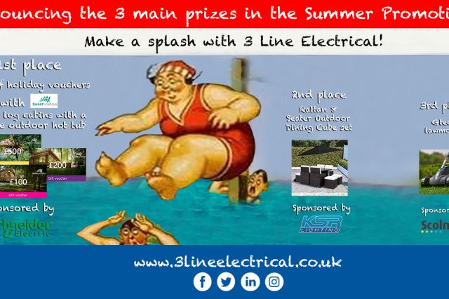 The 3 Main Prizes in the 3 Line Summer Promotion!