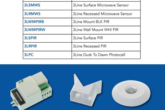 Introducing the new range of 3Line Lighting Sensors available from your local branch