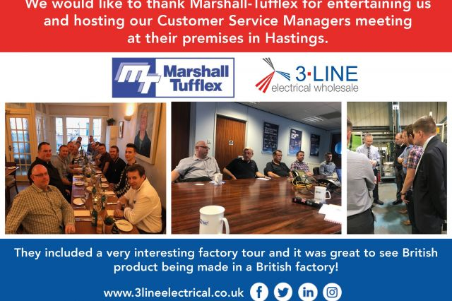 We would like to thank Marshall Tufflex for entertaining us and hosting our Customer Service Managers meeting at their premises in Hastings!