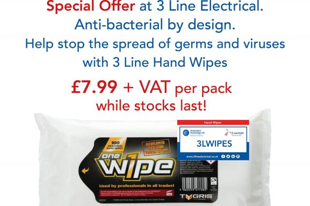 3 Line Electrical Wipes