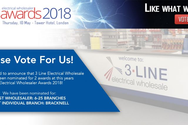 Please vote for us in this years Electrical Wholesalers Awards!